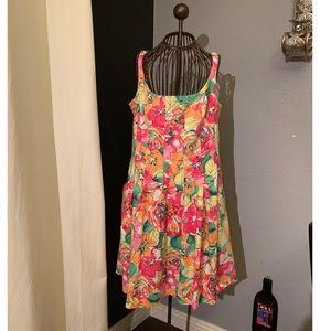 Bright Floral Dress Sz 12